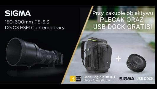 Obiektyw Sigma + plecak i USB dock Gratis!