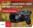 Kamera cyfrowa Canon XA20 oraz XA25 z dodatkowym akumulatorem za 1 zł