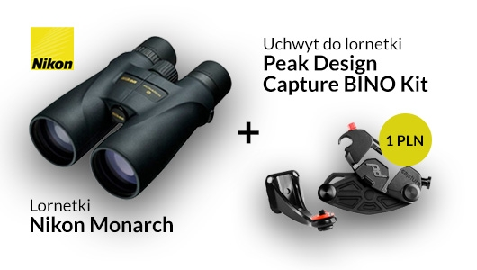 Lornetki Nikon Monarch + uchwyt Peak Design za 1 zł!