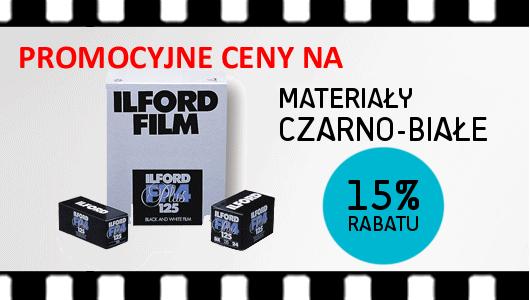 15% rabatu na czarno-białe materiały ILFORD!