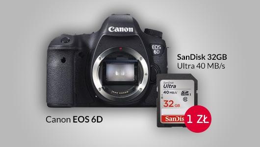 Canon EOS 6D + karta SanDisk 32GB za 1 zł
