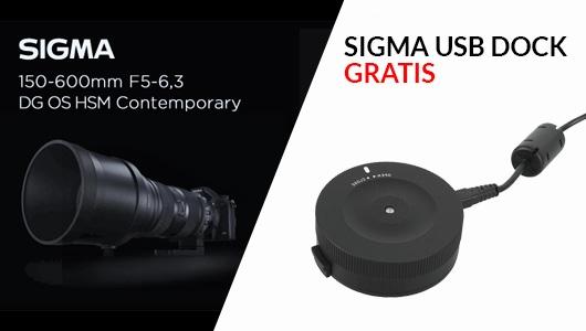 Obiektyw Sigma + USB dock Gratis!