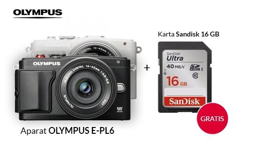 Aparat Olympus E-PL6 + karta SDHC Gratis!