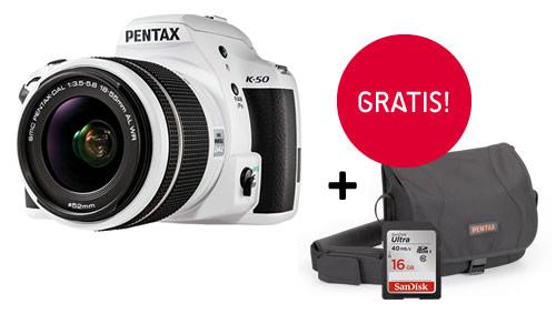 Aparat Pentax K-50 z kartą pamięci i torbą gratis!