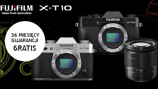 36-miesięczna gwarancja GRATIS w przedsprzedaży FujiFilm X-T10!