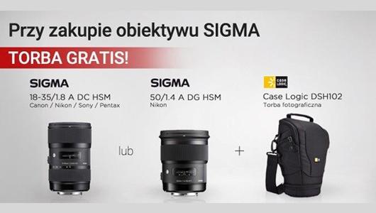 Przy zakupie obiektywu SIGMA torba CaseLogic GRATIS!