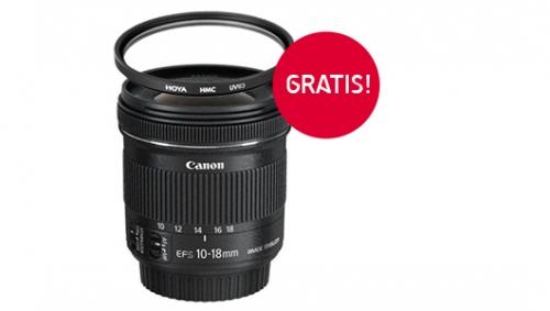 Obiektyw Canon 10-18 mm f/4.5-5.6 EF-S IS STM + filtr Hoya GRATIS!