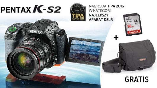 Kup PENTAX K-S2 - otrzymasz torbę Pentax i kartę SDHC GRATIS!