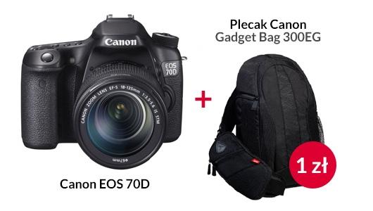 Canon EOS 70D + Canon Gadget Bag za złotówkę!