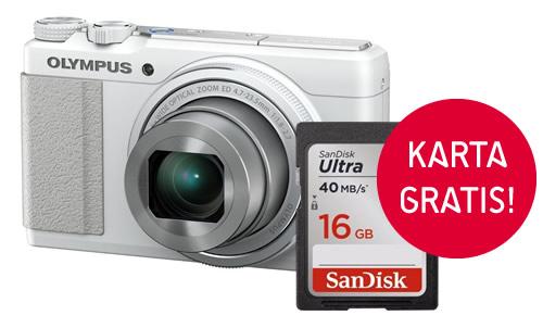 Olympus XZ-10 z kartą Sandisk SDHC 16 GB Ultra 40MB/s GRATIS
