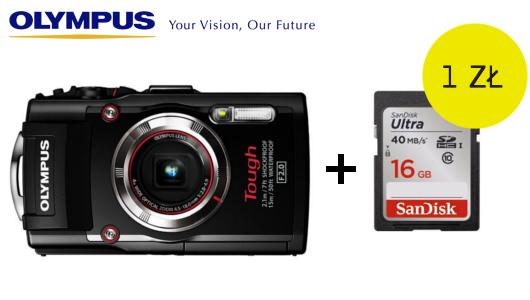 Kup aparat Olympus TG-3 i odbierz kartę SDHC 16 GB za 1zł!