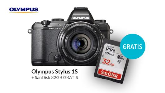 Karta SanDisk 32GB gratis przy zakupie aparatu Olympus Stylus 1S