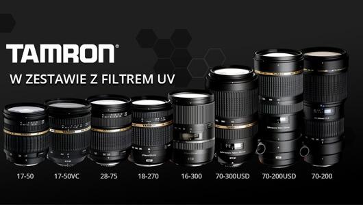 Obiektywy Tamron w zestawie z filtrami UV