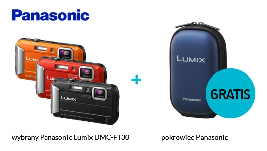 Panasonic LUMIX DMC-FT30 + pokrowiec GRATIS!