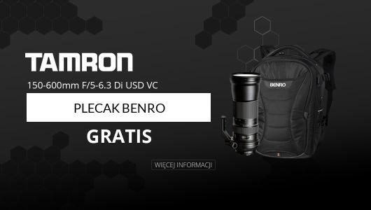 Obiektyw Tamron 150-600 VC USD + Plecak Benro GRATIS!