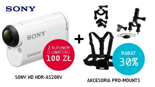 Kamera Sony Full HD + kupon 100 zł + rabat 30% na akcesoria PRO-mounts!