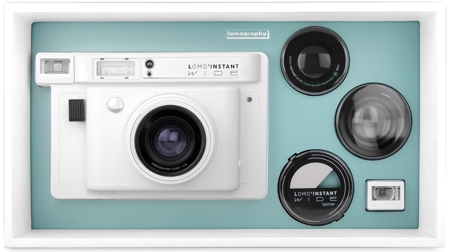 Lomography Lomoinstant Wide White 3 Obiektywy Aparaty Cyfrowe Instant Camera Lenses San Sebastian Edition Wszechstronno