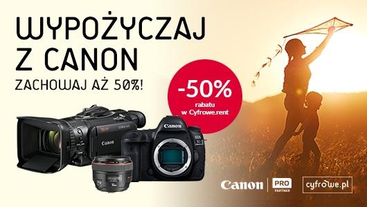 Wypożyczaj z Canon i zachowaj aż 50%