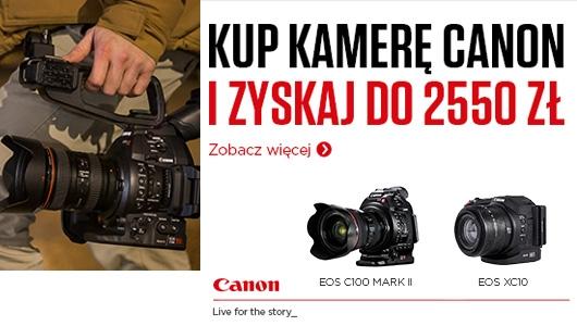Kup kamerę Canon i zyskaj do 2550zł