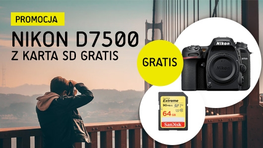 Nikon D7500 z kartą SD gratis