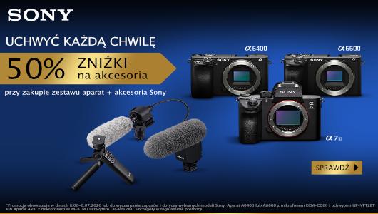 Teraz przy zakupie aparatu Sony wybrane akcesoria 50% taniej!