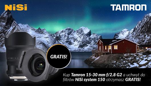 Obiektyw Tamron z uchwytem do filtrów gratis