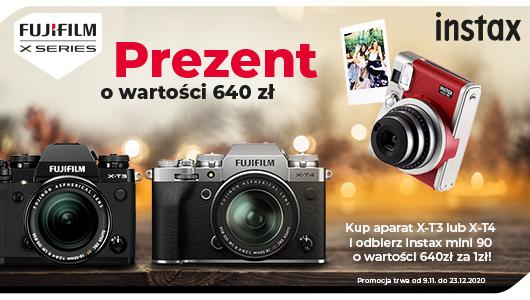 Kup Fujifilm X-T3 lub X-T4 a aparat Instax Mini 90 będzie Twój tylko za 1 zł!
