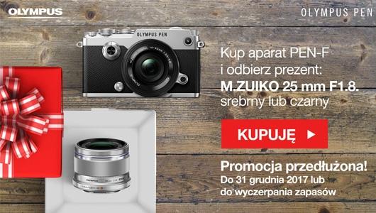 Kup aparat PEN-F i odbierz M.ZUIKO 25mm gratis