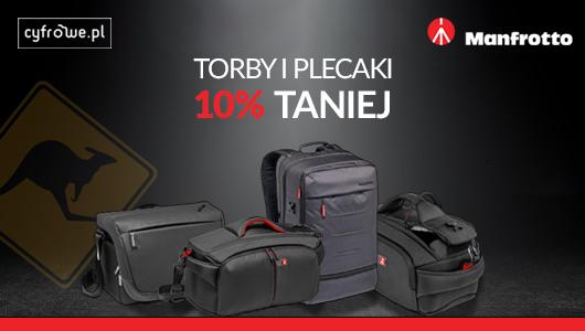 Plecaki, torby i walizki Manfrotto 10% taniej!