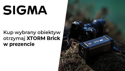 Przy zakupie obiektywu Sigma, otrzymasz XTORM Brick w prezencie!