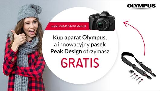 Kup aparat Olympus i odbierz innowacyjny pasek Peak Design gratis