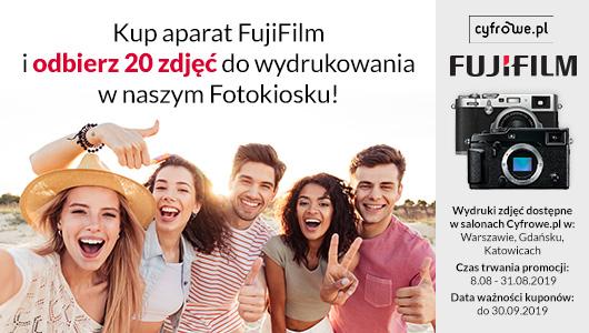 Kup aparat marki FujiFilm i odbierz darmowy pakiet zdjęć!