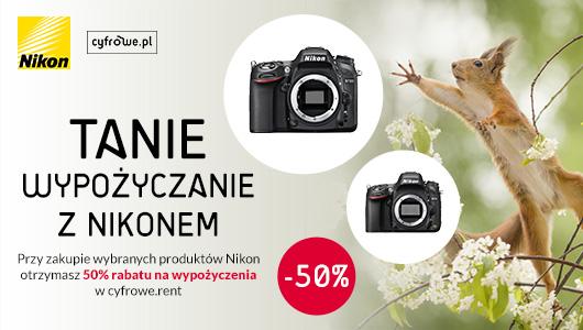 Wypożyczaj z Nikon i zachowaj aż 50%
