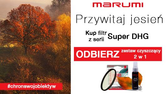 Przy zakupie filtra Marumi otrzymasz zestaw czyszący 2w1 za 1 zł