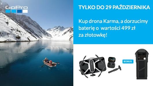 Dron GoPro Karma + dodatkowa bateria za 1 zł
