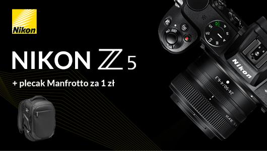 Nikon Z5 z plecakiem Manfrotto za 1zł