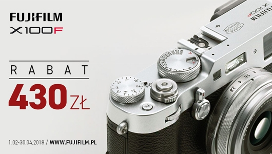 Kup aparat X100F i odbierz rabat w wysokości 430 zł