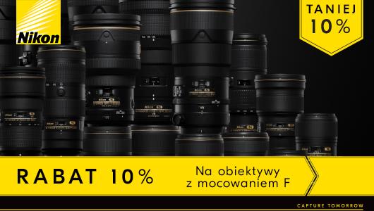 Obiektywy Nikon z mocowaniem F taniej o 10%