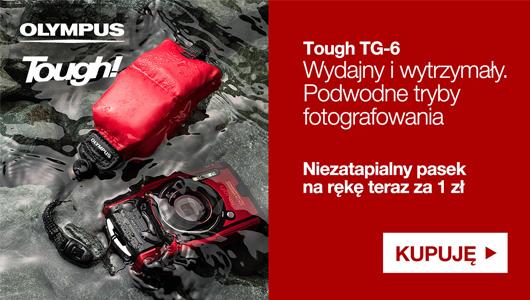 Aparat Olympus TG-6 + pasek na rękę za 1 zł