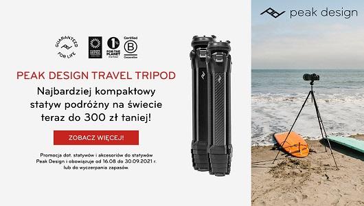 Peak Design Travel Line Tripod z akcesoriami w niższych cenach!