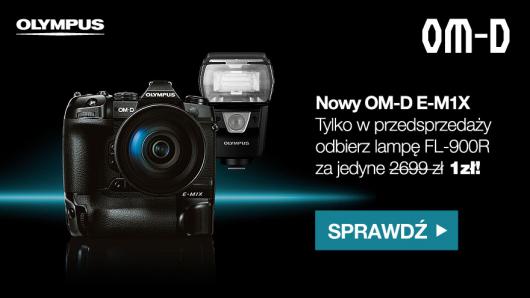 Olympus OM-D E-M1X z lampą FL-900R za 1 zł