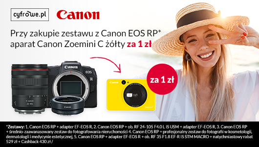 Canon EOS RP +  aparat Zoemini C za 1 zł