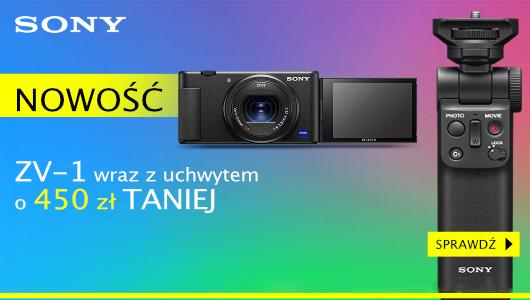 Sony ZV1 z uchwytem taniej 450 zł!