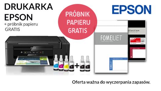 Kup drukarkę firmy Epson aby dostać gratisowy próbnik papieru Fomei