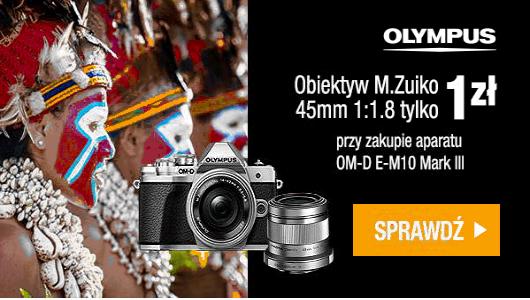 Aparat Olympus OM-D E-M10 MKIII + obiektyw Olympusa za 1 zł!