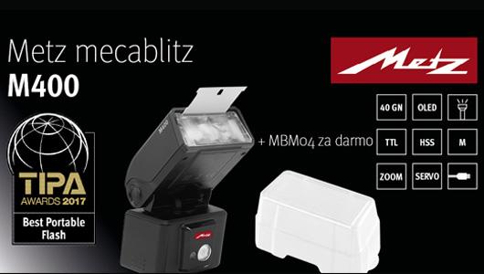 Lampa Metz M-400 w zestawie z dyfuzorem