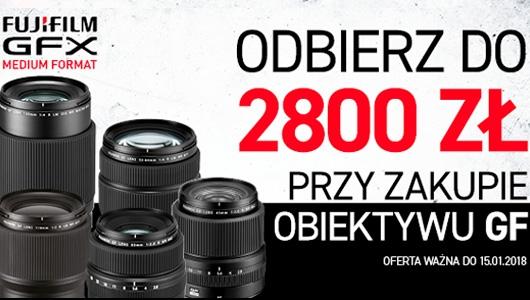 Obiektywy FujiFilm GF taniej o 2800 zł
