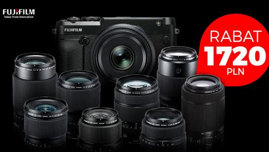 1720 zł rabatu na wybrane aparaty i obiektywy FujiFilm