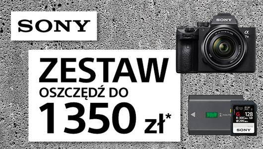Przy zakupie aparatu Sony A7 III body karta i akumulator za 1 zł