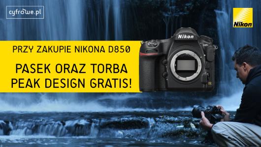 Kup Nikona D850 i otrzymaj pasek oraz torbęPeak Design gratis